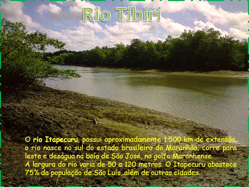 O rio Itapecuru, possui aproximadamente 1.500 km de extensão, o rio nasce no sul do estado brasileiro do Maranhão, corre para leste e deságua na baía