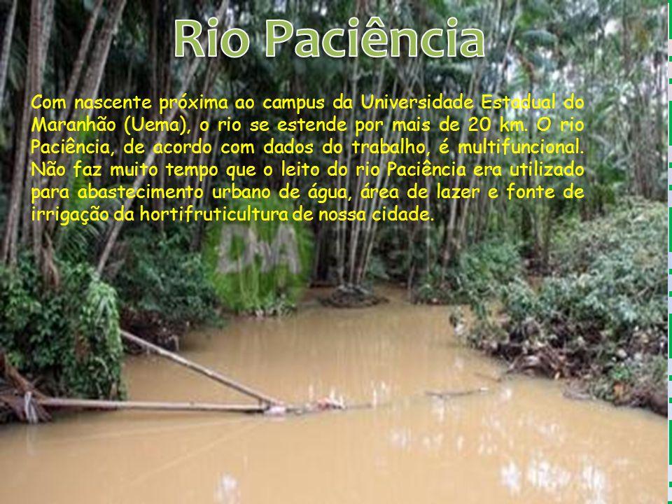 Com nascente próxima ao campus da Universidade Estadual do Maranhão (Uema), o rio se estende por mais de 20 km. O rio Paciência, de acordo com dados d