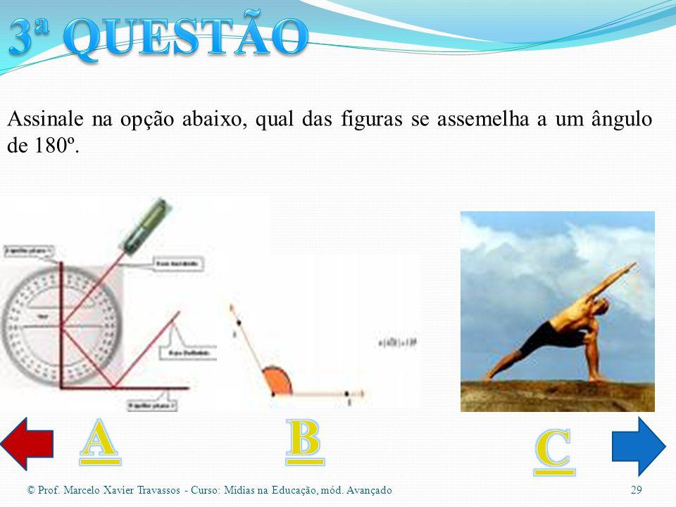 © Prof. Marcelo Xavier Travassos - Curso: Mídias na Educação, mód. Avançado 28 Assinale na opção abaixo, qual das figuras se assemelha a um quadriláte