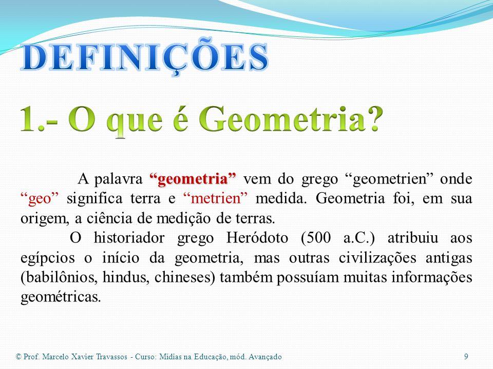 9 geometria A palavra geometria vem do grego geometrien onde geo significa terra e metrien medida.
