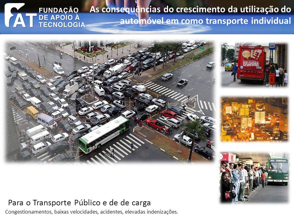Congestionamentos, baixas velocidades, acidentes, elevadas indenizações.