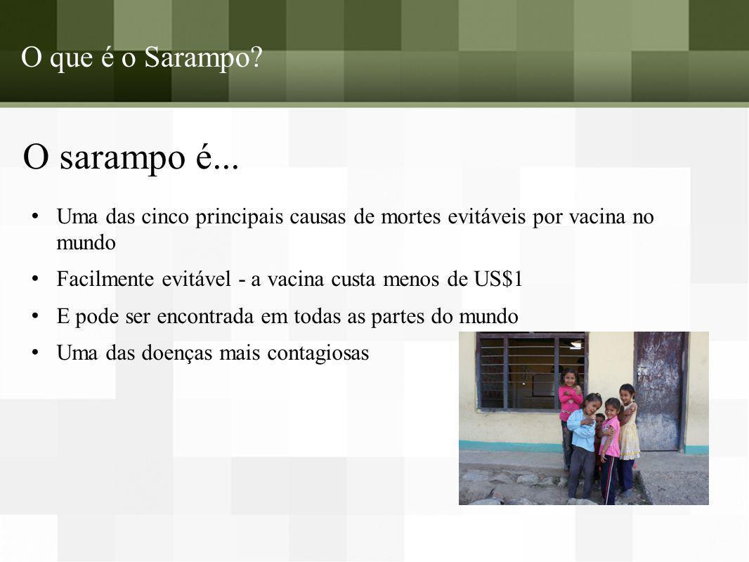 O que é o Sarampo.O sarampo é...