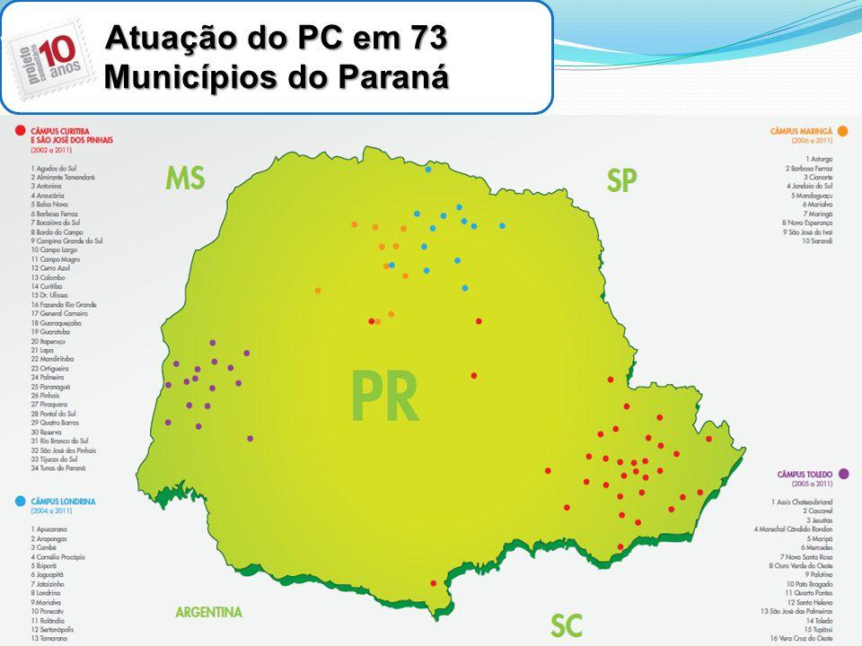 Atuação do PC em 73 Municípios do Paraná