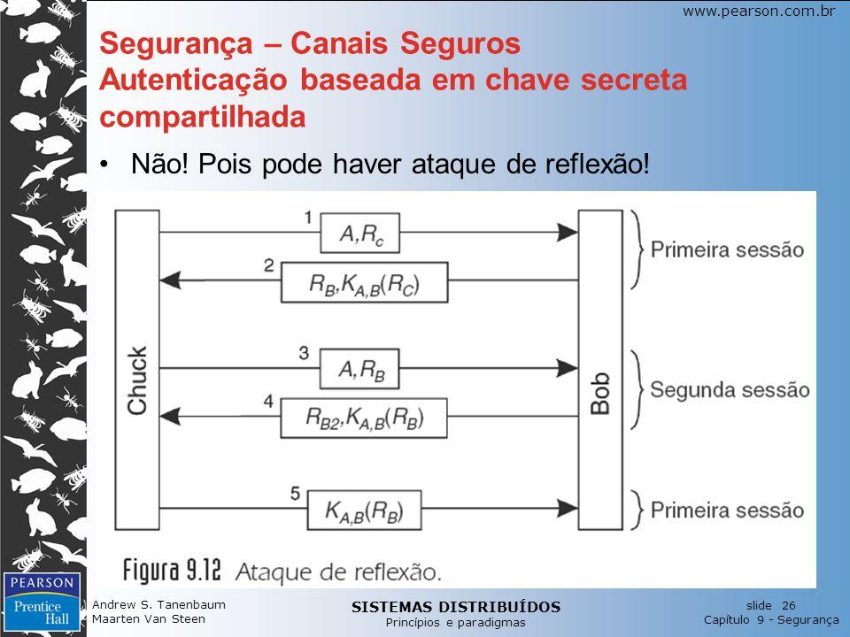 SISTEMAS DISTRIBUÍDOS Princípios e paradigmas slide 26 Capítulo 9 - Segurança www.pearson.com.br Andrew S.