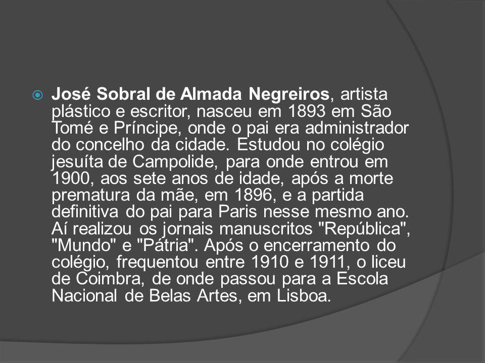 Quadros de Almeida Negreiros Retrato de Fernando PessoaRetrato de Fernando Pessoa, 1954, óleo sobre tela.