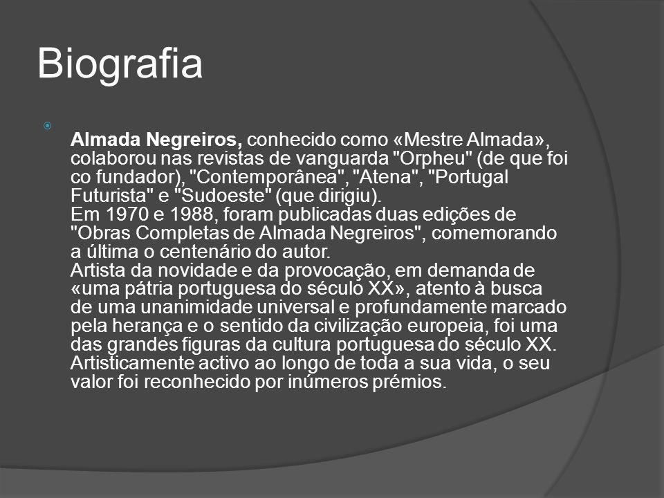 perguntas sobre o trabalho  1- Quem era Almeida Negreiros.  2- Onde ele nasceu.