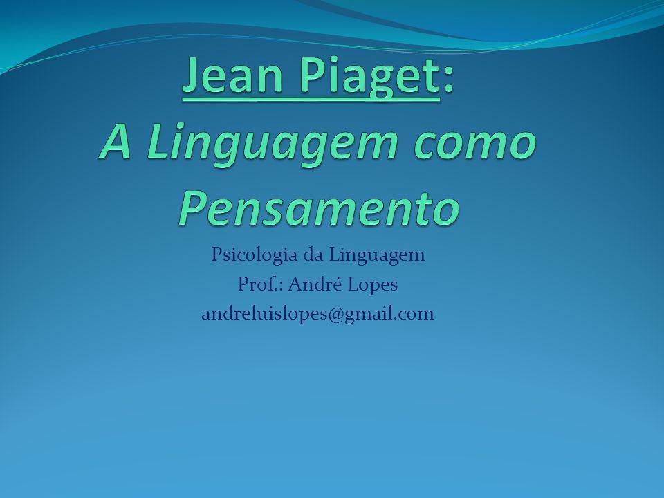 Psicologia da Linguagem Prof.: André Lopes andreluislopes@gmail.com