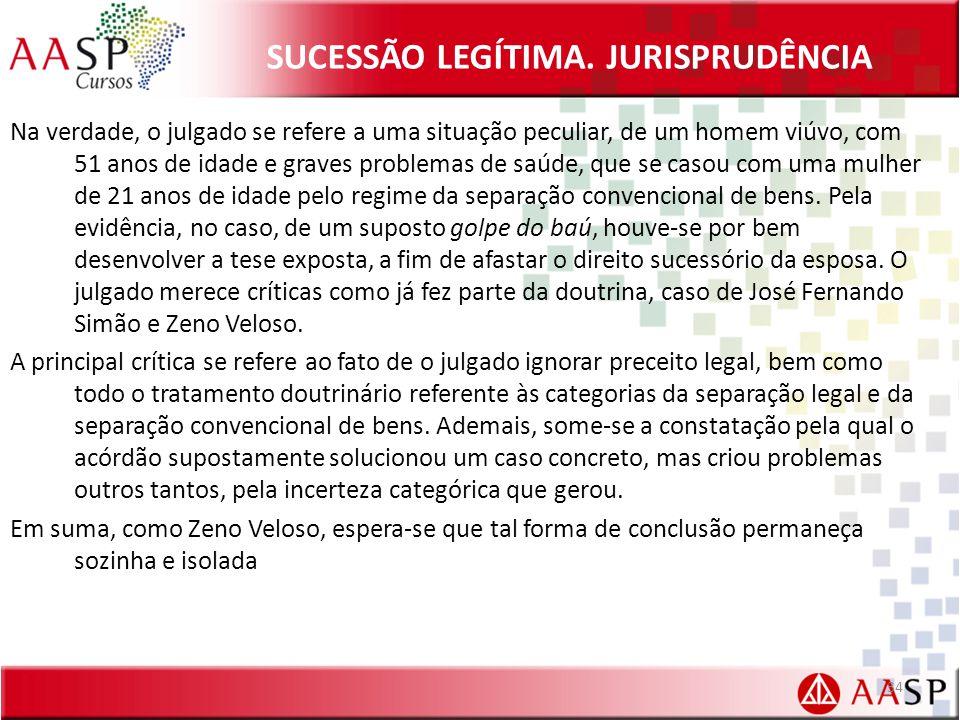 SUCESSÃO LEGÍTIMA.
