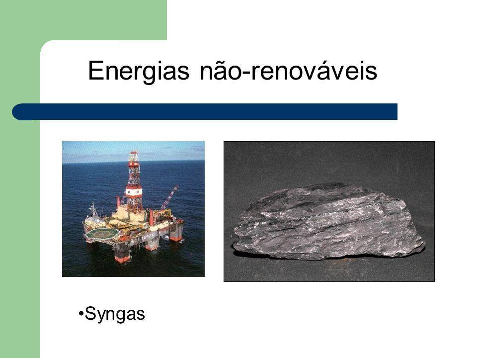Energias não-renováveis Syngas