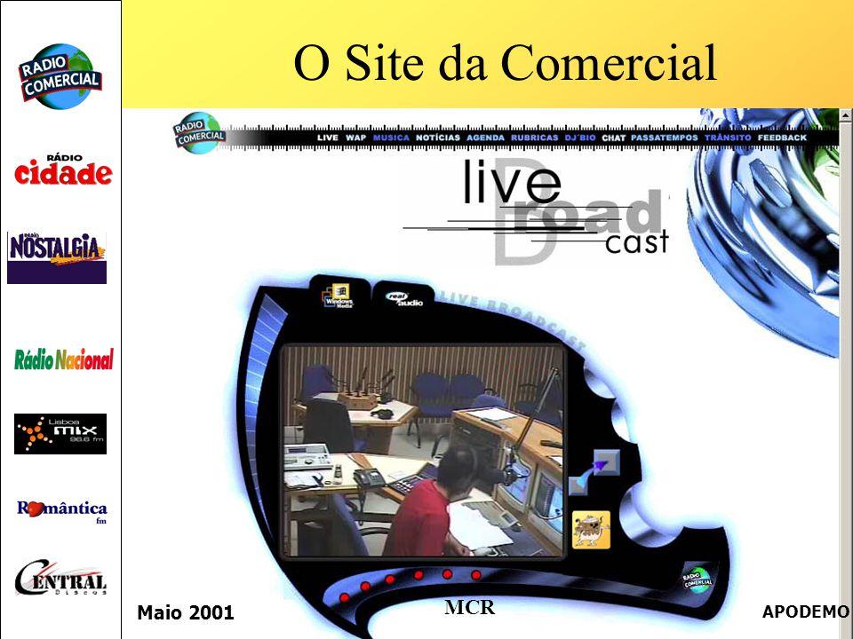 O Site da Comercial Maio 2001 APODEMO MCR