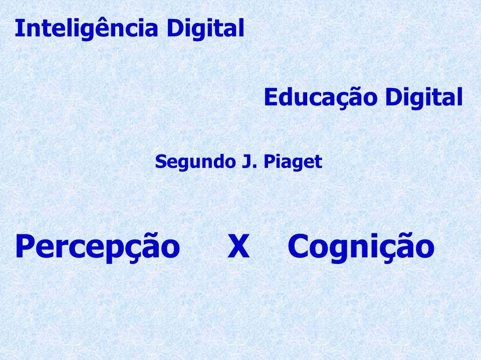 Inteligência Digital Educação Digital Segundo J. Piaget Percepção X Cognição