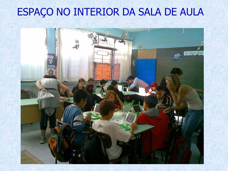 ESPAÇO NO INTERIOR DA SALA DE AULA