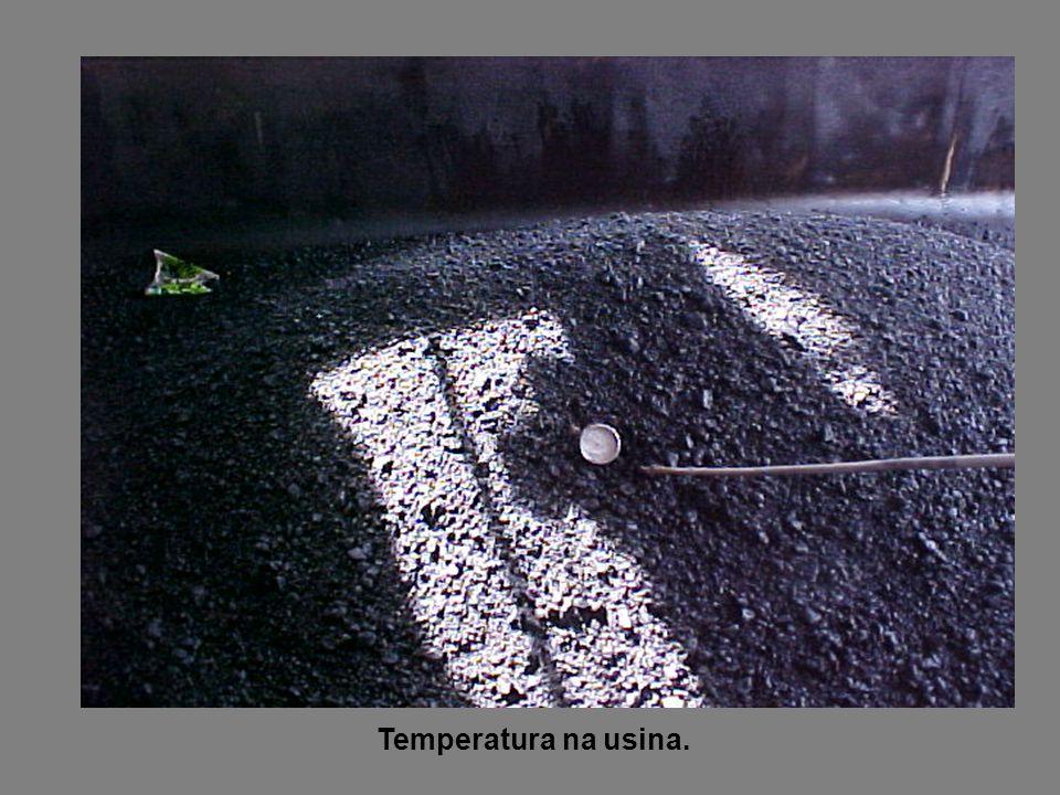 Temperatura na usina.
