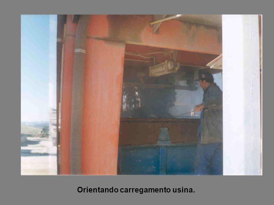 Orientando carregamento usina.
