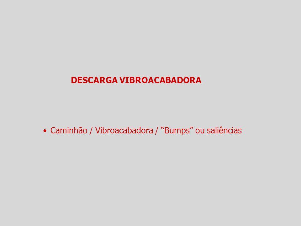 """DESCARGA VIBROACABADORA Caminhão / Vibroacabadora / """"Bumps"""" ou saliências"""