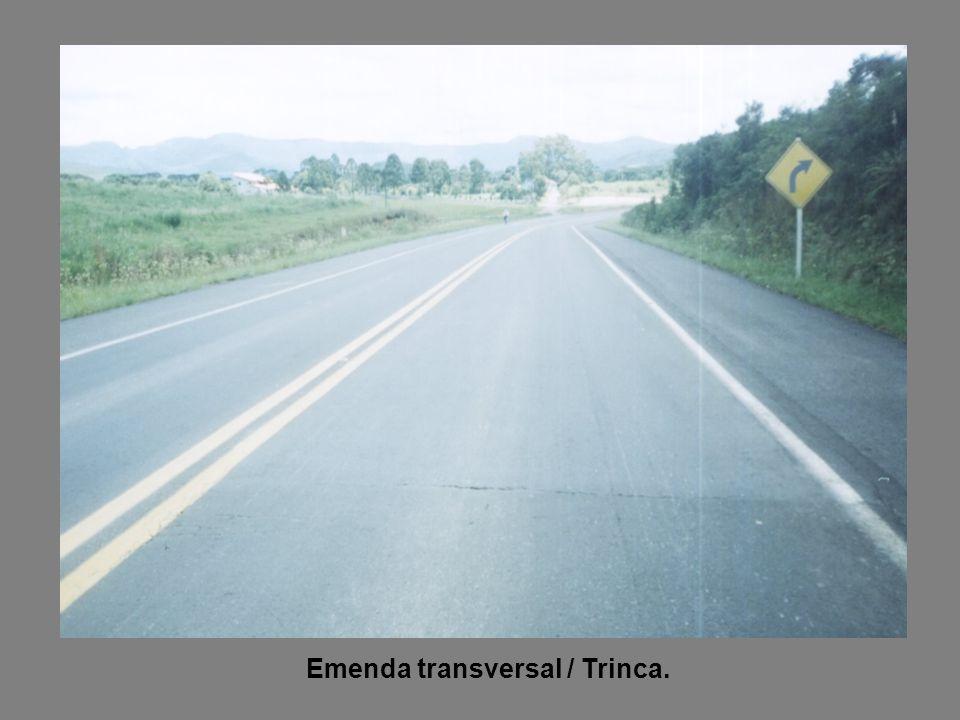 Emenda transversal / Trinca.