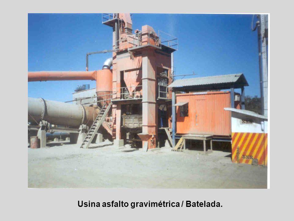 Usina asfalto gravimétrica / Decantação Via Úmida.