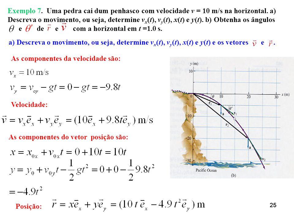 24 b) Mostre que existem dois ângulos possíveis para atingir um alvo à uma distância d = 800 m, menor que a distância máxima. e o ângulo complementar