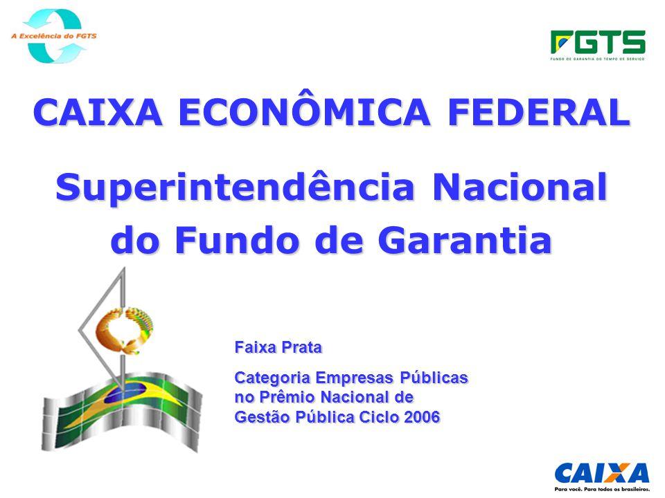 CAIXA ECONÔMICA FEDERAL Superintendência Nacional do Fundo de Garantia Faixa Prata Categoria Empresas Públicas no Prêmio Nacional de Gestão Pública Ciclo 2006