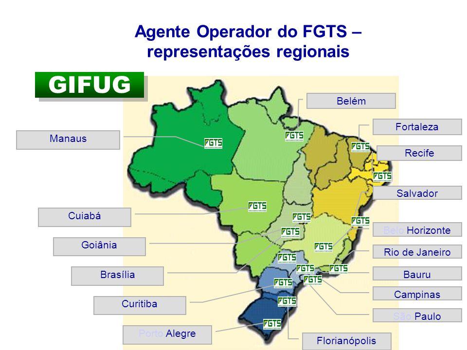 GIFUG Porto Alegre Florianópolis Curitiba Bauru Rio de Janeiro Belo Horizonte Salvador Recife Fortaleza Belém Cuiabá Manaus Goiânia Brasília Campinas