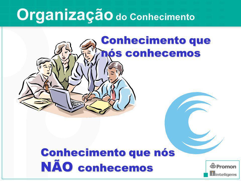 Organização do Conhecimento Conhecimento que nós conhecemos Conhecimento que nós NÃO conhecemos