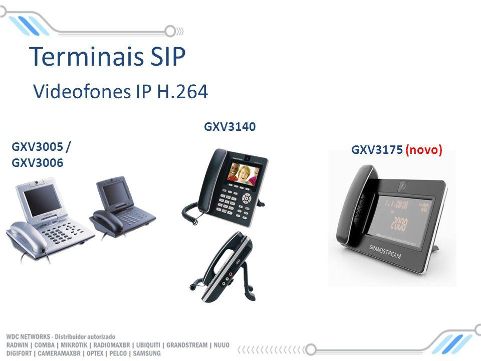 Videofones IP H.264 GXV3005 / GXV3006 GXV3140 GXV3175 (novo) Terminais SIP