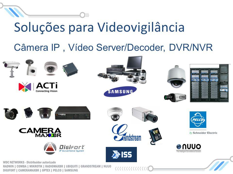 Soluções para Videovigilância Câmera IP, Vídeo Server/Decoder, DVR/NVR