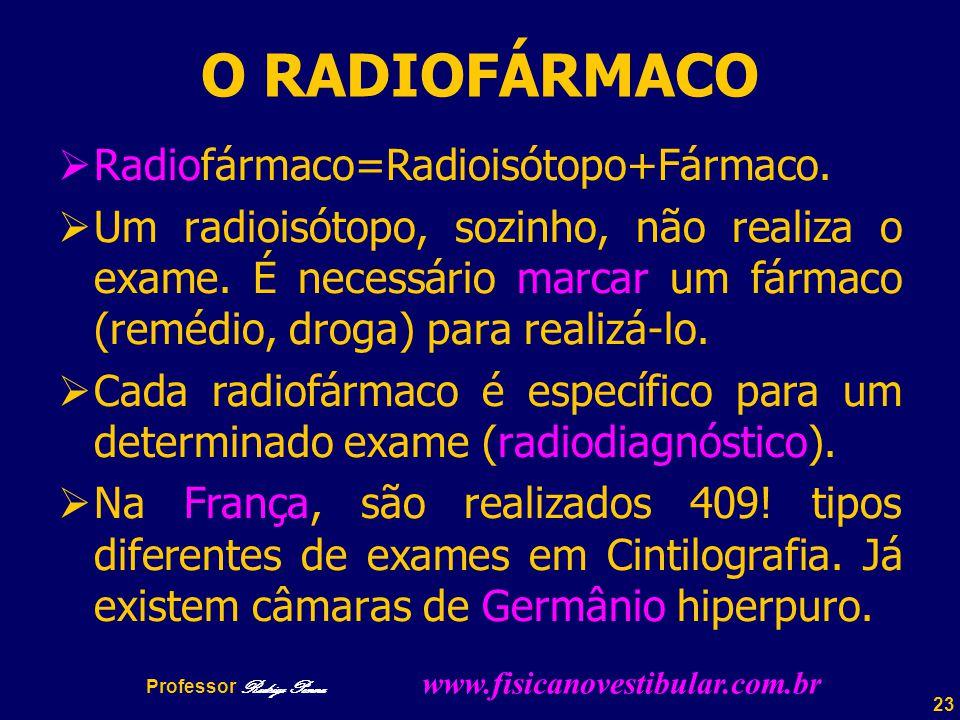 23 O RADIOFÁRMACO  Radiofármaco=Radioisótopo+Fármaco.