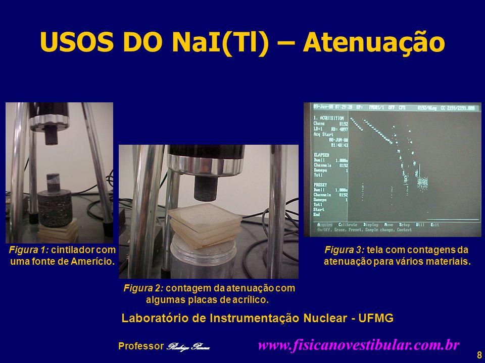 39 Professor Rodrigo Penna Gálio-67  67 Ga Meia-vida: 78,3 horas Três fotopicos: 93, 185, 300 KeV Principal emissão de energia : 93 KeV
