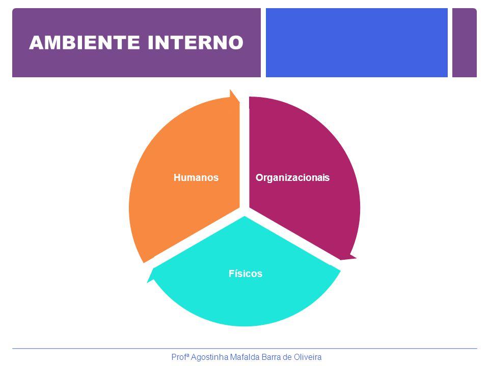 AMBIENTE INTERNO Organizacionais Físicos Humanos Profª Agostinha Mafalda Barra de Oliveira