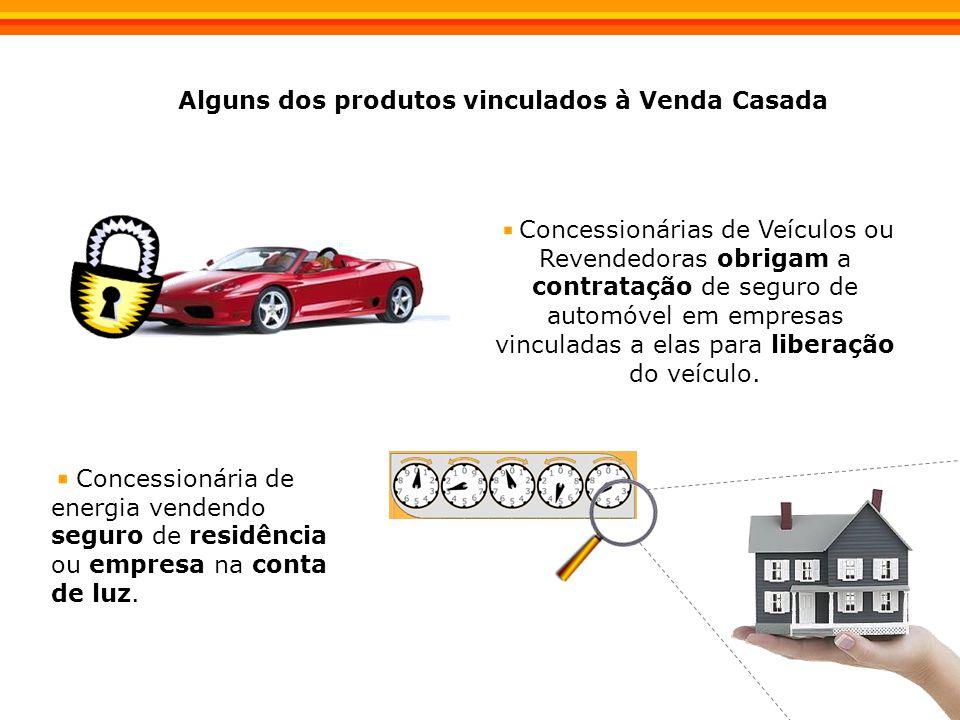 Concessionárias de Veículos ou Revendedoras obrigam a contratação de seguro de automóvel em empresas vinculadas a elas para liberação do veículo.