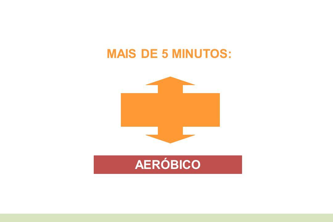 MAIS DE 5 MINUTOS: AERÓBICO