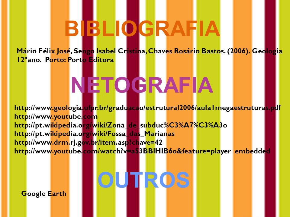 BIBLIOGRAFIA Mário Félix José, Sengo Isabel Cristina, Chaves Rosário Bastos.