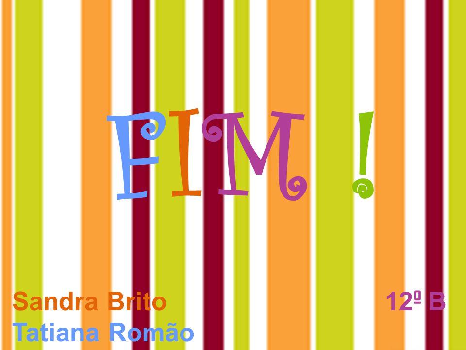 FIM !FIM ! Sandra Brito 12 º B Tatiana Romão