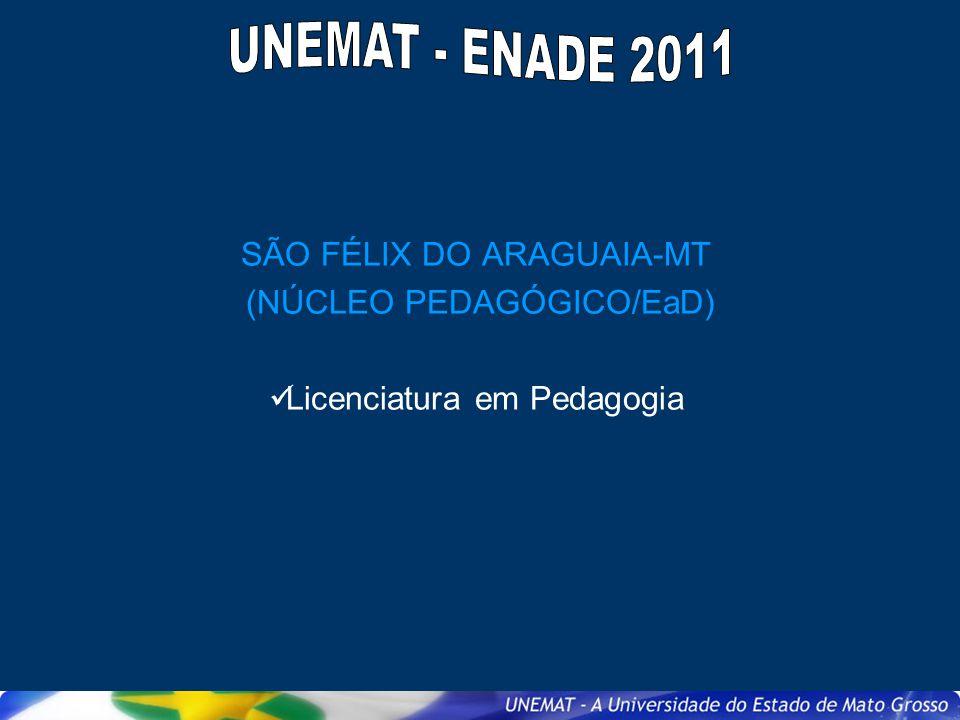 SÃO FÉLIX DO ARAGUAIA-MT (NÚCLEO PEDAGÓGICO/EaD) Licenciatura em Pedagogia