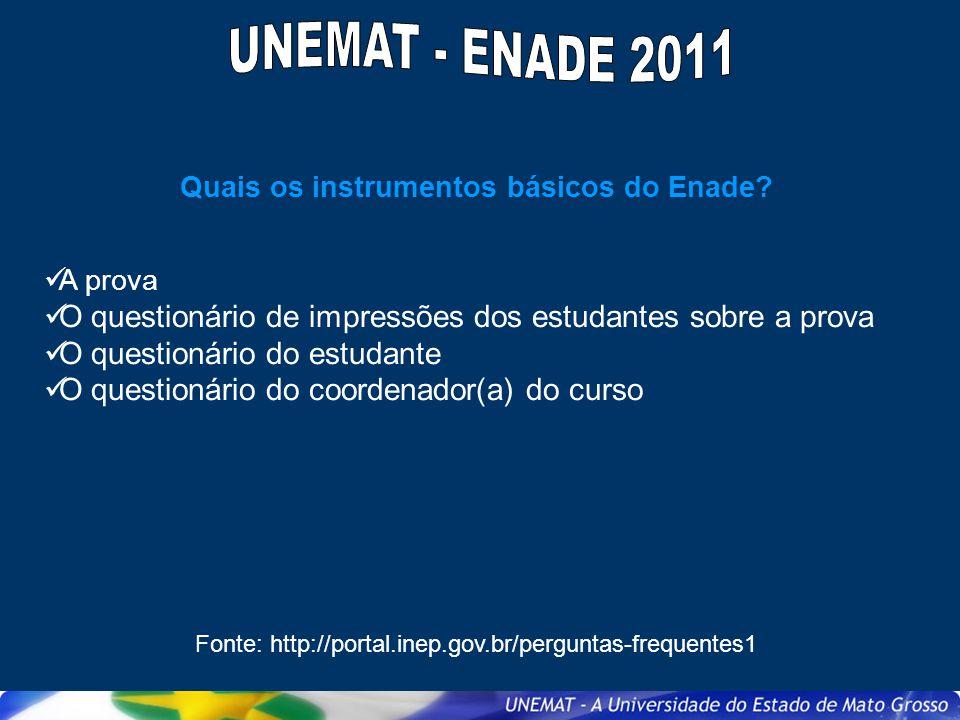 Quais cursos serão avaliados pelo Enade em 2011.Art.