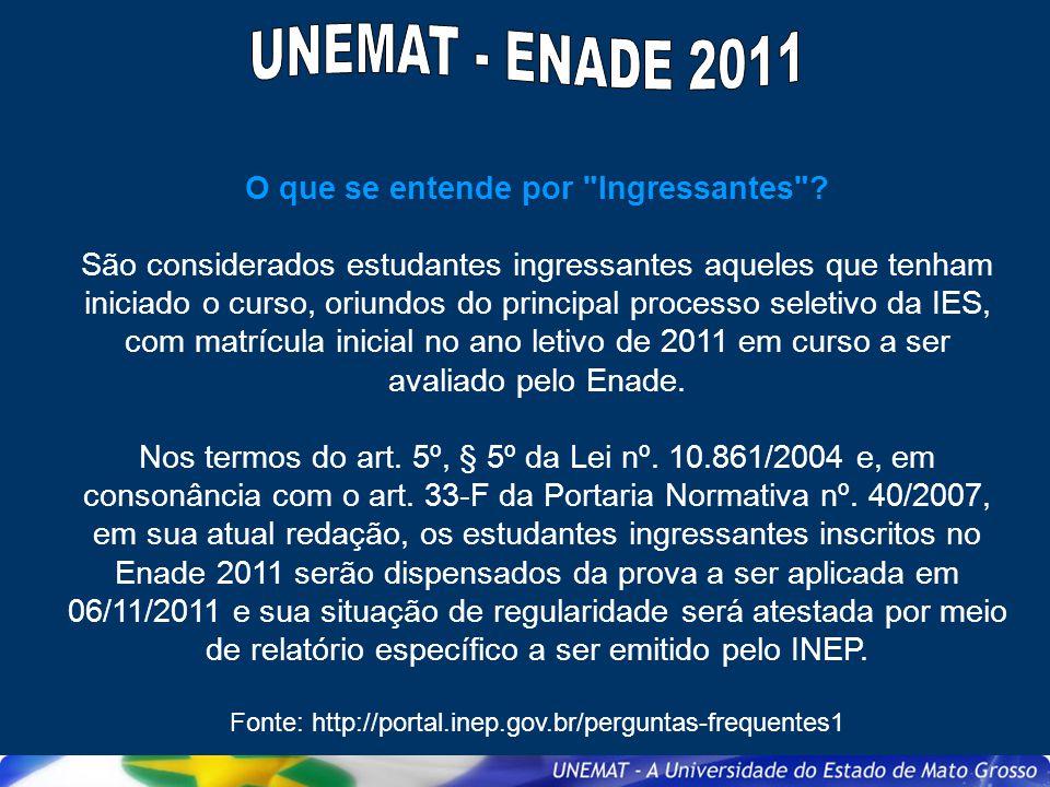 Quando e como será divulgada a lista dos estudantes selecionados para o Enade 2011.