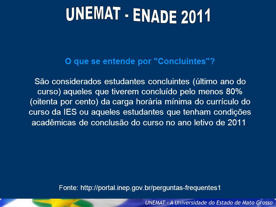 Deseja outras informações sobre o Enade 2011.