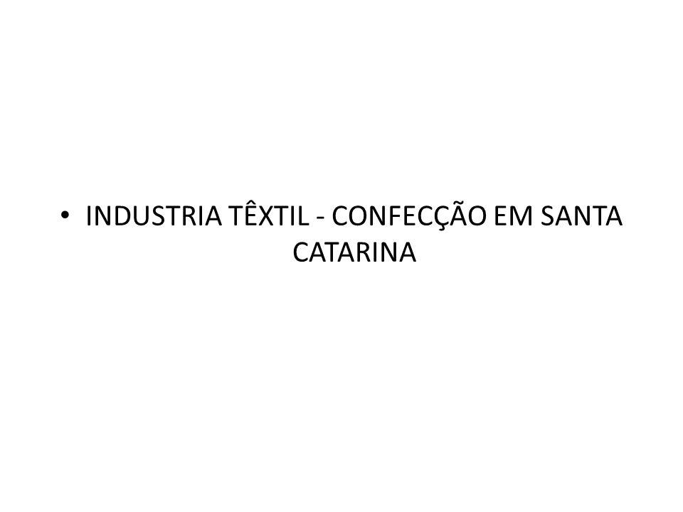 INDUSTRIA TÊXTIL - CONFECÇÃO EM SANTA CATARINA
