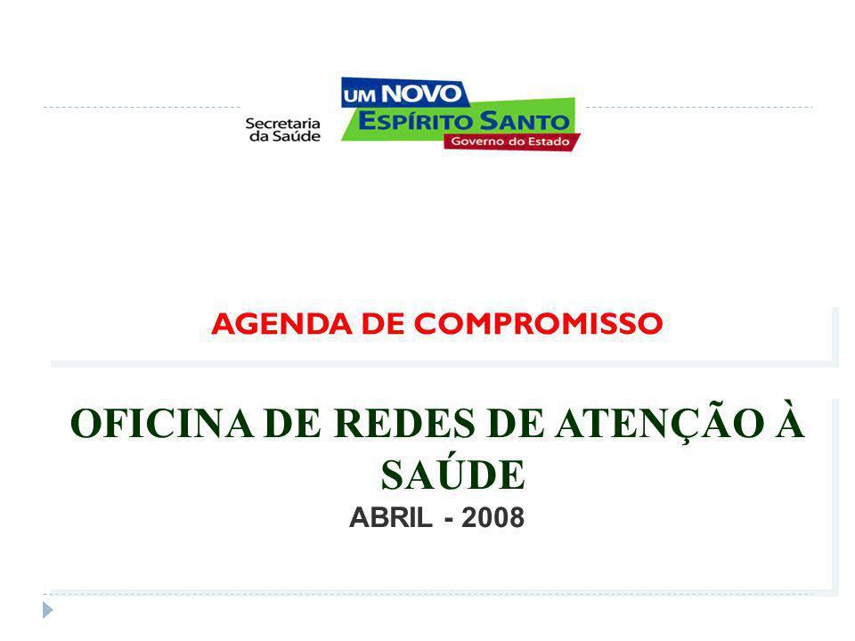 AGENDA DE COMPROMISSO OFICINA DE REDES DE ATENÇÃO À SAÚDE ABRIL - 2008 OFICINA DE REDES DE ATENÇÃO À SAÚDE ABRIL - 2008