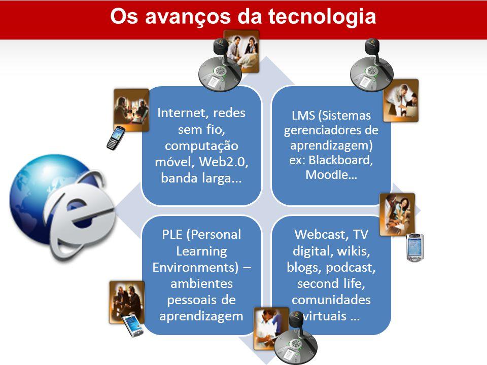 Os avanços da tecnologia Internet, redes sem fio, computação móvel, Web2.0, banda larga...
