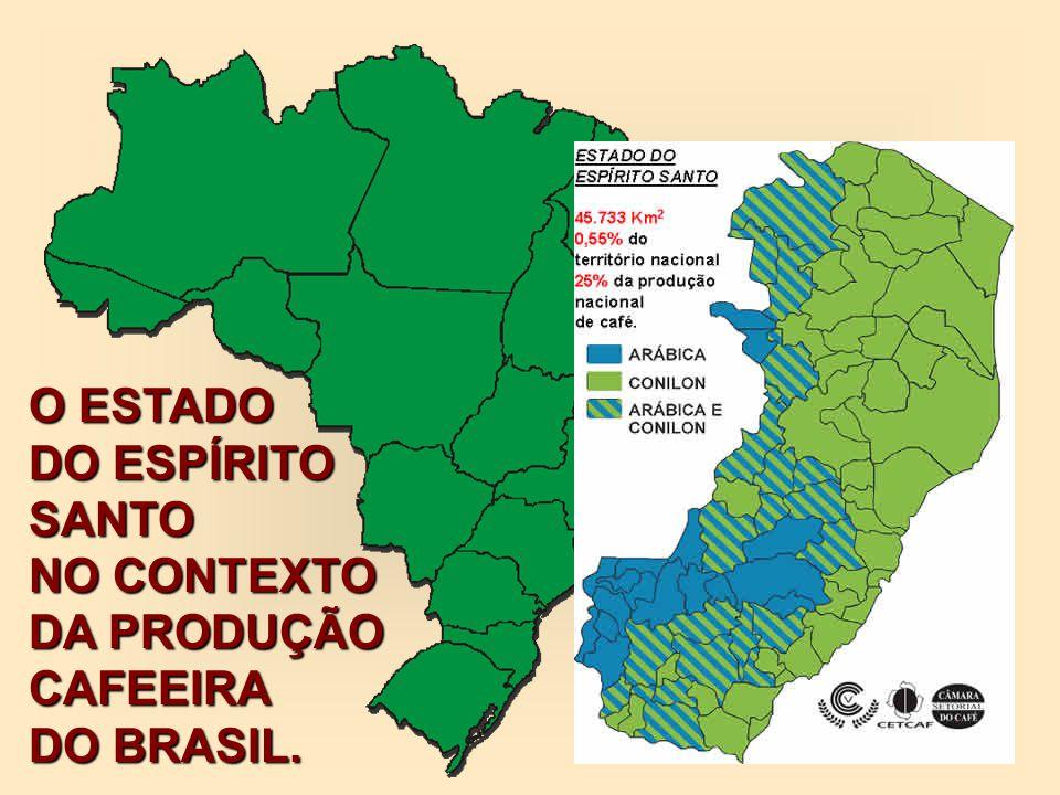 O ESTADO DO ESPÍRITO SANTO NO CONTEXTO DA PRODUÇÃO CAFEEIRA DO BRASIL.