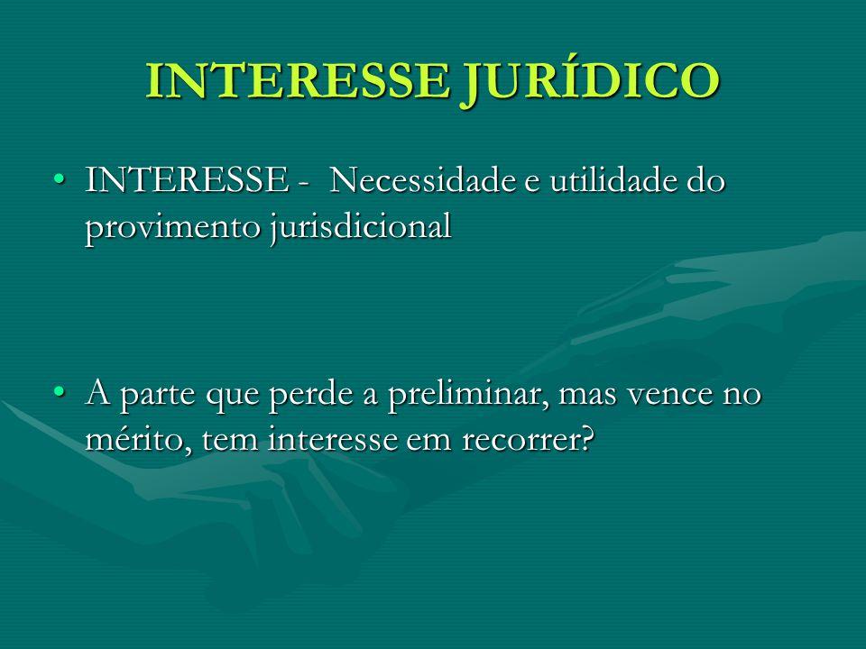 INTERESSE JURÍDICO INTERESSE - Necessidade e utilidade do provimento jurisdicionalINTERESSE - Necessidade e utilidade do provimento jurisdicional A pa