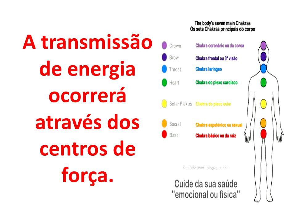 A transmissão de energia ocorrerá através dos centros de força.