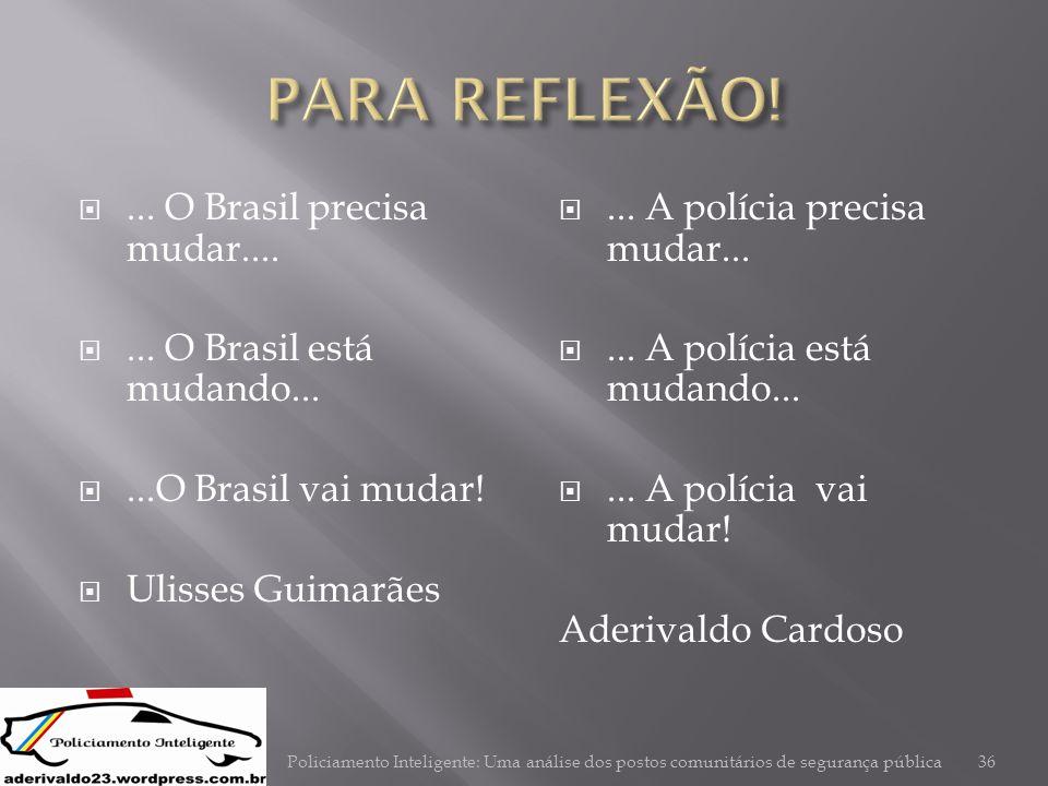 ... O Brasil precisa mudar.... ... O Brasil está mudando... ...O Brasil vai mudar!  Ulisses Guimarães ... A polícia precisa mudar... ... A políc