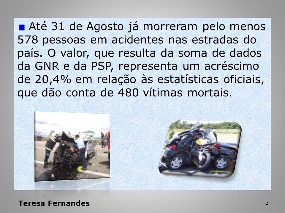 Até 31 de Agosto já morreram pelo menos 578 pessoas em acidentes nas estradas do país. O valor, que resulta da soma de dados da GNR e da PSP, represen