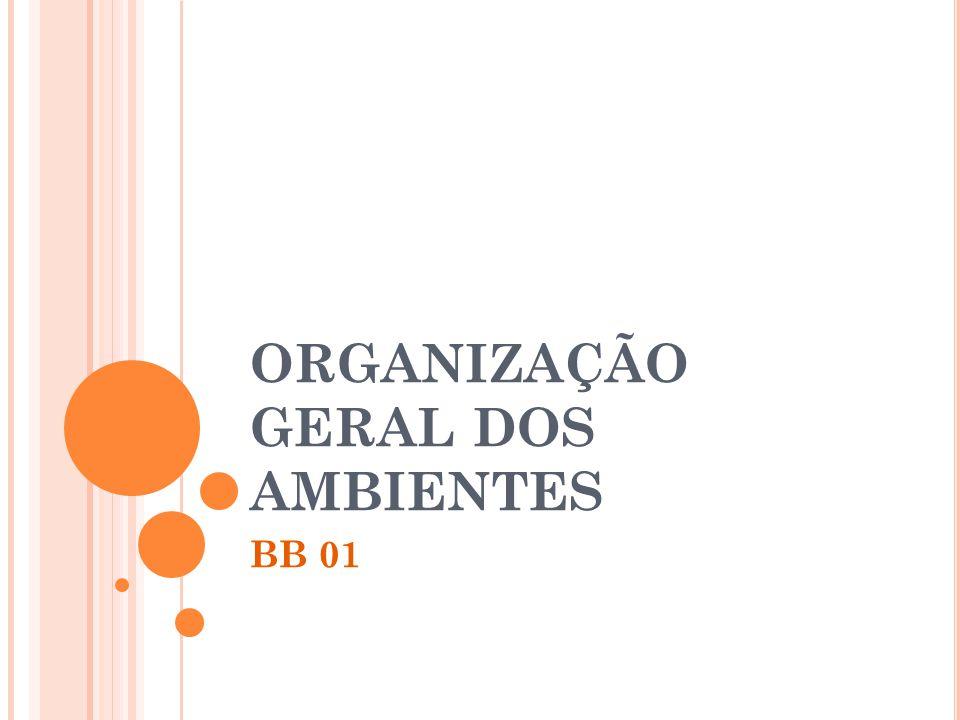 ORGANIZAÇÃO GERAL DOS AMBIENTES BB 01