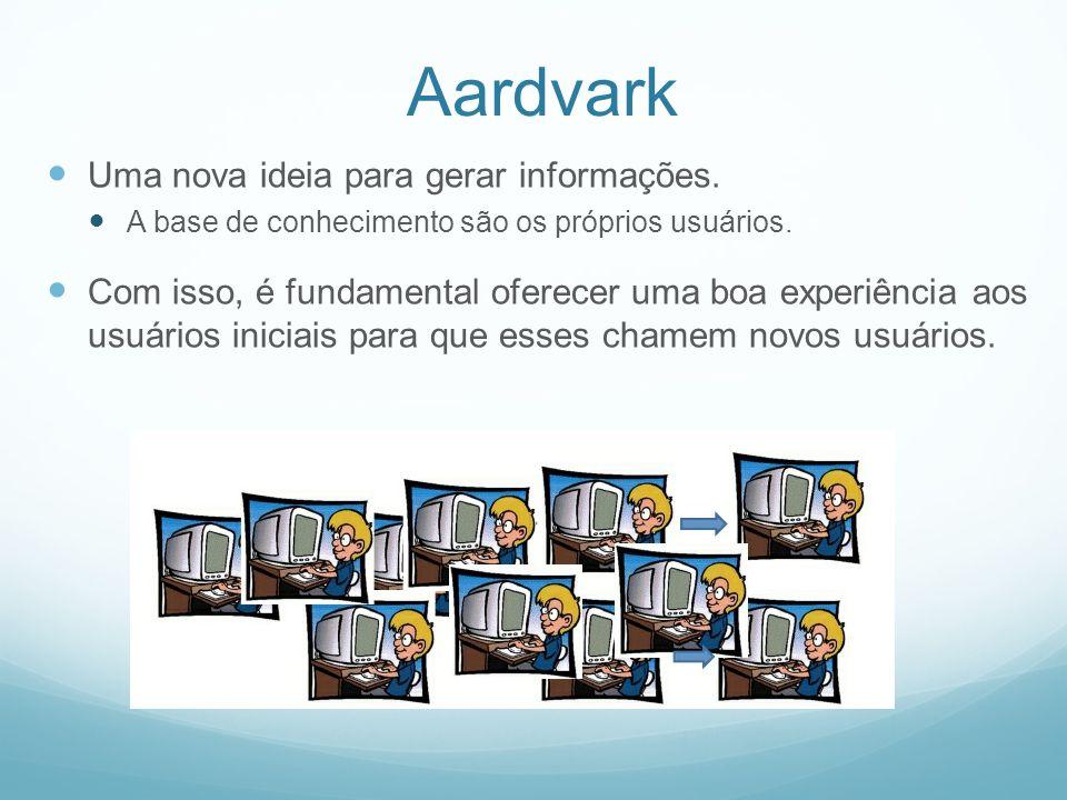Aardvark Uma nova ideia para gerar informações. A base de conhecimento são os próprios usuários.
