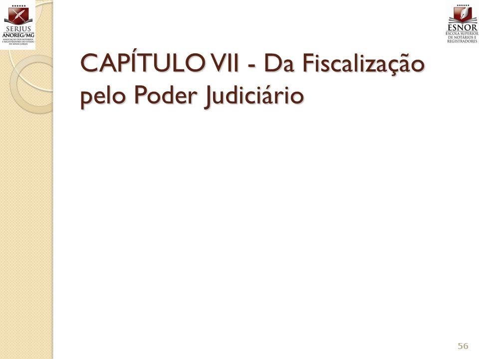 CAPÍTULO VII - Da Fiscalização pelo Poder Judiciário 56