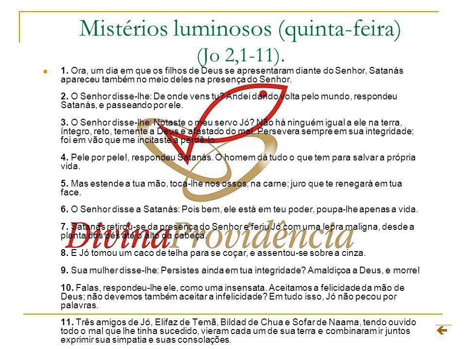 Mistérios luminosos (quinta-feira) (Jo 2,1-11).1.